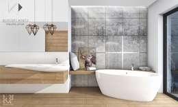 Baños de estilo escandinavo por Architekt wnętrz Klaudia Pniak