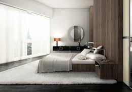 Dormitorios de estilo moderno por Pracownie Wnętrz Kodo