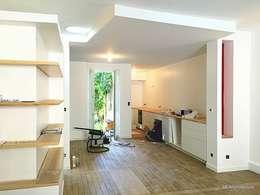 Chantier - Installation de la cuisine / Finitions de peinture: la réception en approche: Salle à manger de style de style Moderne par 3B Architecture