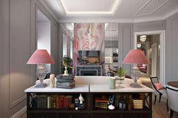 Квартира в стиле Прованс: Гостиная в . Автор – Дарья Баранович Дизайн Интерьера
