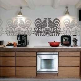 Paredes y pisos de estilo rústico por Sklep Ludowy