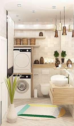 6 ideeën om je wasmachine uit het zicht in je badkamer te plaatsen