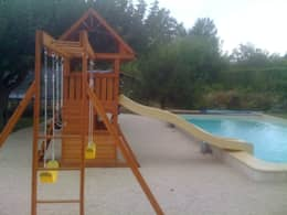 Pool Side Climbing Frame: classic Garden by Selwood Products