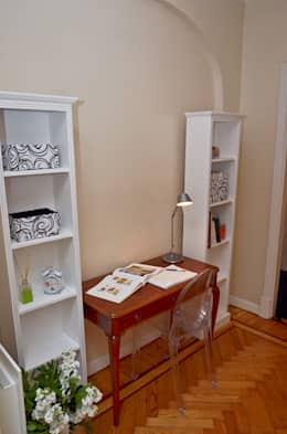 Departamento en Recoleta I: Estudios y oficinas de estilo moderno por GUTMAN+LEHRER ARQUITECTAS