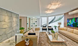 غرفة المعيشة تنفيذ Espaço do Traço arquitetura