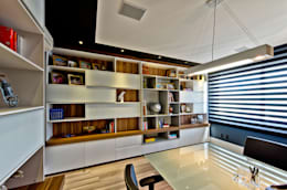 Projekty,  Domowe biuro i gabinet zaprojektowane przez Espaço do Traço arquitetura