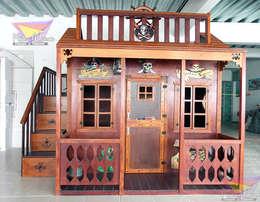 Divertida y hermosa casita  estilo pirata para niños: Habitaciones infantiles de estilo  por camas y literas infantiles kids world