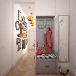 Прихожая в квартире на Ленинском проспекте: Коридоры, прихожие, лестницы в . Автор – «Студия 3.14»