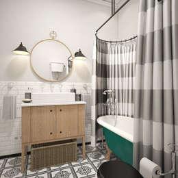 Ванная в квартире на Ленинском проспекте: Ванные комнаты в . Автор – «Студия 3.14»