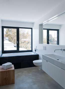 Projekty,  Łazienka zaprojektowane przez gramming rosenmüller architekten
