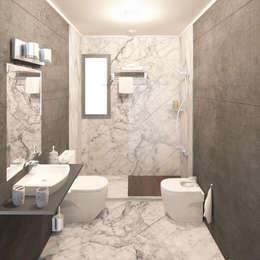 Baños de estilo moderno por AURIANOVA ARQUITECTOS
