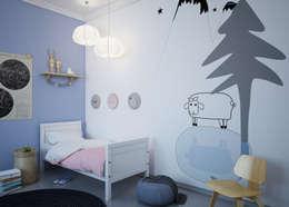 Dormitorios infantiles de estilo moderno por Humpty Dumpty Room Decoration