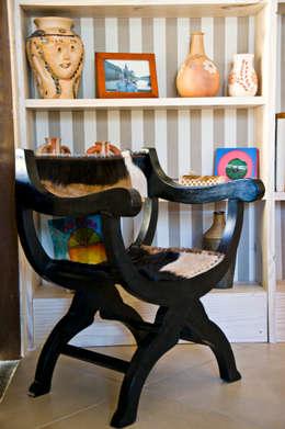 Renato Teles Arquitetura: tropikal tarz tarz Oturma Odası