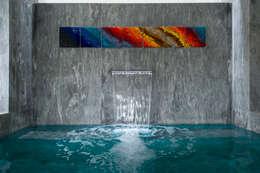 Residencia CD de México: Albercas de estilo moderno por Studio Orfeo Quagliata
