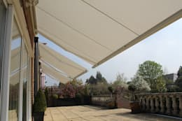 Patio Awning Installation in London.:  Terrace by Caribbean Blinds