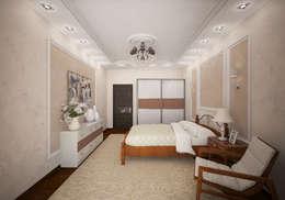 Классическая комната с французским двориком на балконе: Спальни в . Автор – Гурьянова Наталья