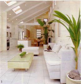 Salas de estilo mediterraneo por 豊田空間デザイン室 一級建築士事務所