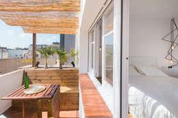 terraza + habitacion principal: Terrazas de estilo  de LF24 Arquitectura Interiorismo