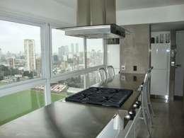 Cocina de estilo  por Hargain Oneto Arquitectas