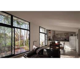 Casa Silvia y Omar: Livings de estilo moderno por IR arquitectura