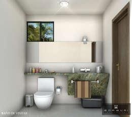 BAÑO DE VISITAS: Baños de estilo  por ANGOLO-grado arquitectónico