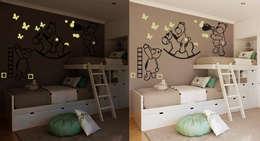 Habitaciones infantiles de estilo  por Pracownia Golden Sheep