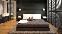 Otwarta sypialnia: styl , w kategorii Sypialnia zaprojektowany przez FAMM DESIGN
