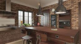 Cocinas de estilo industrial por FAMM DESIGN
