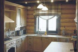 Cocinas de estilo rural por ULJANOCHKIN DESIGN*STUDIO