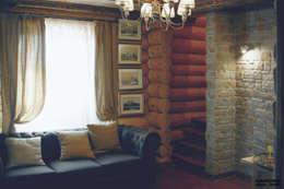 Salas / recibidores de estilo rural por ULJANOCHKIN DESIGN*STUDIO