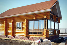 Casas de estilo rural de ULJANOCHKIN DESIGN*STUDIO