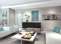 غرفة المعيشة تنفيذ Comparato Arquitetura