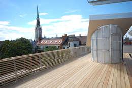 roof terrace:  Terrasse von allmermacke