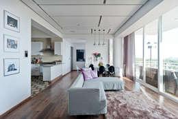 DEPARTAMENTO EN CUERNAVACA: Salas de estilo moderno por HO arquitectura de interiores
