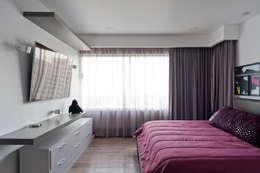 Habitaciones de estilo moderno por HO arquitectura de interiores