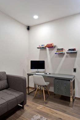 DEPARTAMENTO EN CUERNAVACA: Estudios y oficinas de estilo moderno por HO arquitectura de interiores