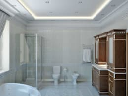Baños de estilo clásico por Симуков Святослав частный дизайнер интерьера