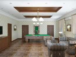 Salas de entretenimiento de estilo clásico por Симуков Святослав частный дизайнер интерьера