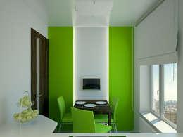 minimalistic Kitchen by Симуков Святослав частный дизайнер интерьера