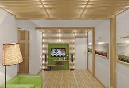 mediterranean Living room by Симуков Святослав частный дизайнер интерьера