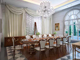 classic Dining room by Design studio of Stanislav Orekhov. ARCHITECTURE / INTERIOR DESIGN / VISUALIZATION.