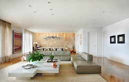 Livings de estilo moderno por Thaisa Camargo Arquitetura e Interiores