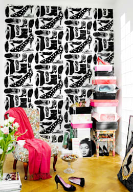 create zones in your bedroom with different wallpaper: zones bedroom wallpaper
