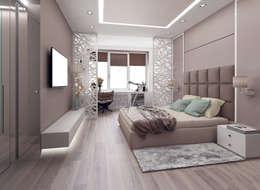 Dormitorios de estilo ecléctico por ООО 'Студио-ТА'