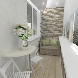 Трехкомнатная квартира: Tерраса в . Автор – Design Rules