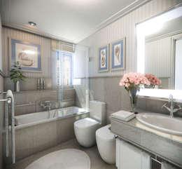 colonial Bathroom by Abel Mesa
