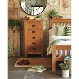 Oakland 5 Drawer Tall Chest: country Bedroom by The Cotswold Company