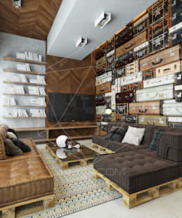 industrial Living room by homify