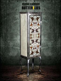 Металлический шкаф - BUTTERFLIES: Гостиная в . Автор – KAGADATO