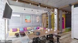eclectic Living room by Kornienko-Partners